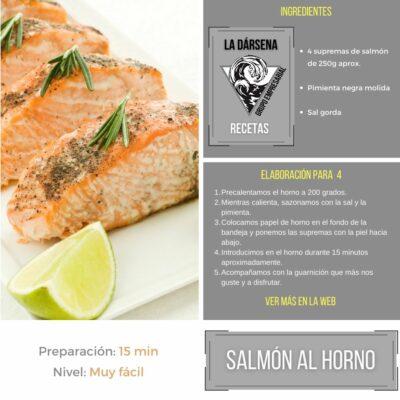 Salmón al horno receta